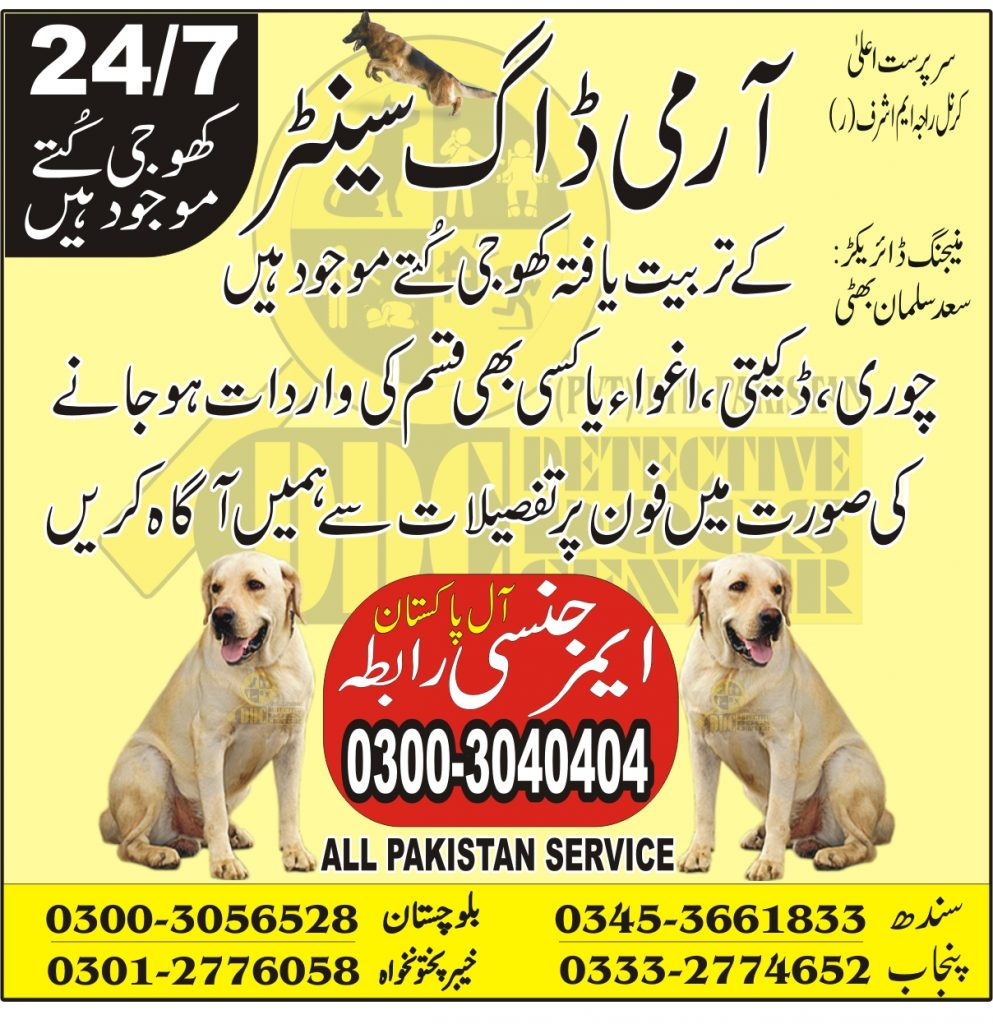 Army dog center contact