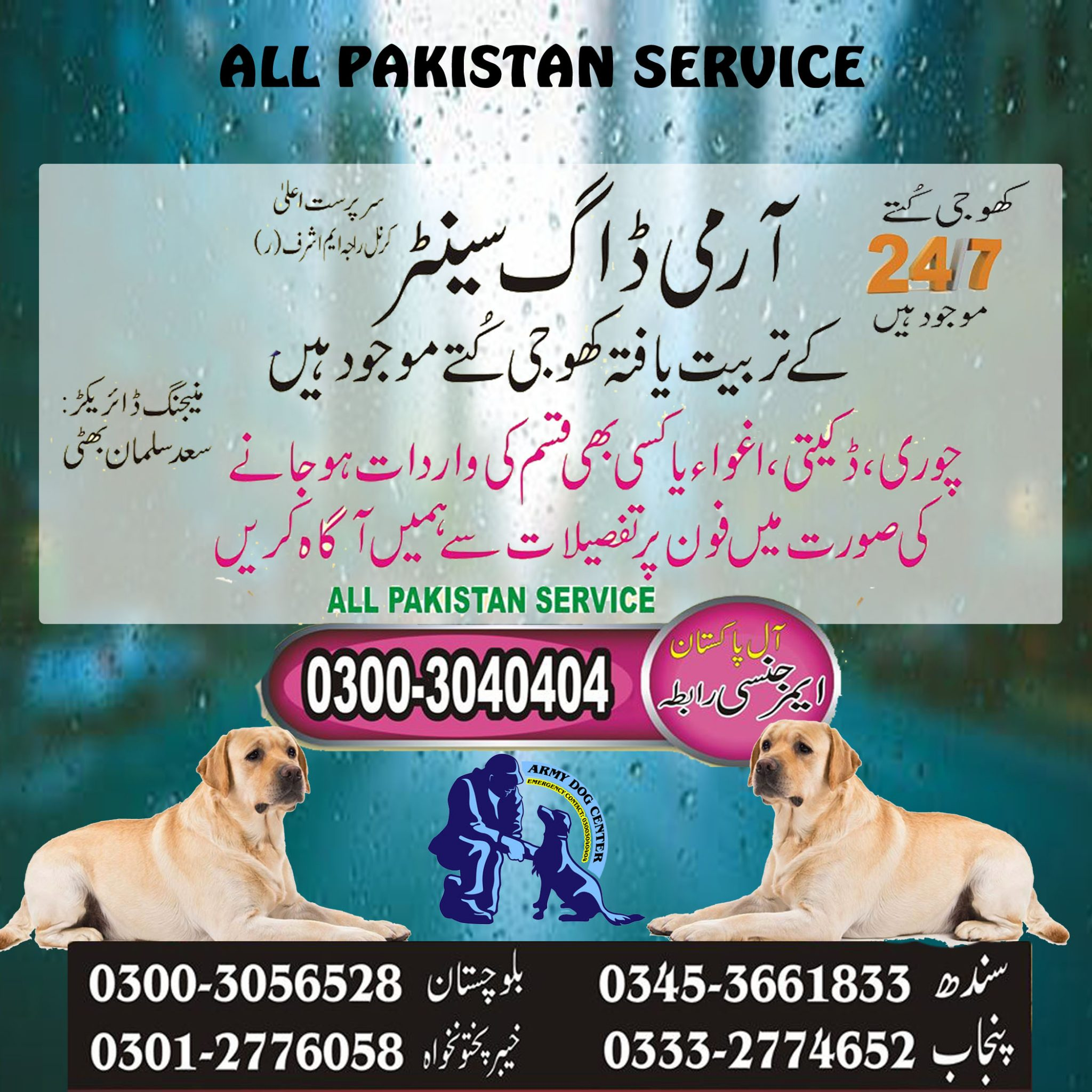 Dog Center Balochistan Pakistan Superb Service
