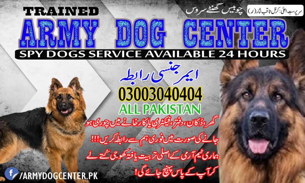 Army Dog Center Pakistan Emergency Contact 03003040404