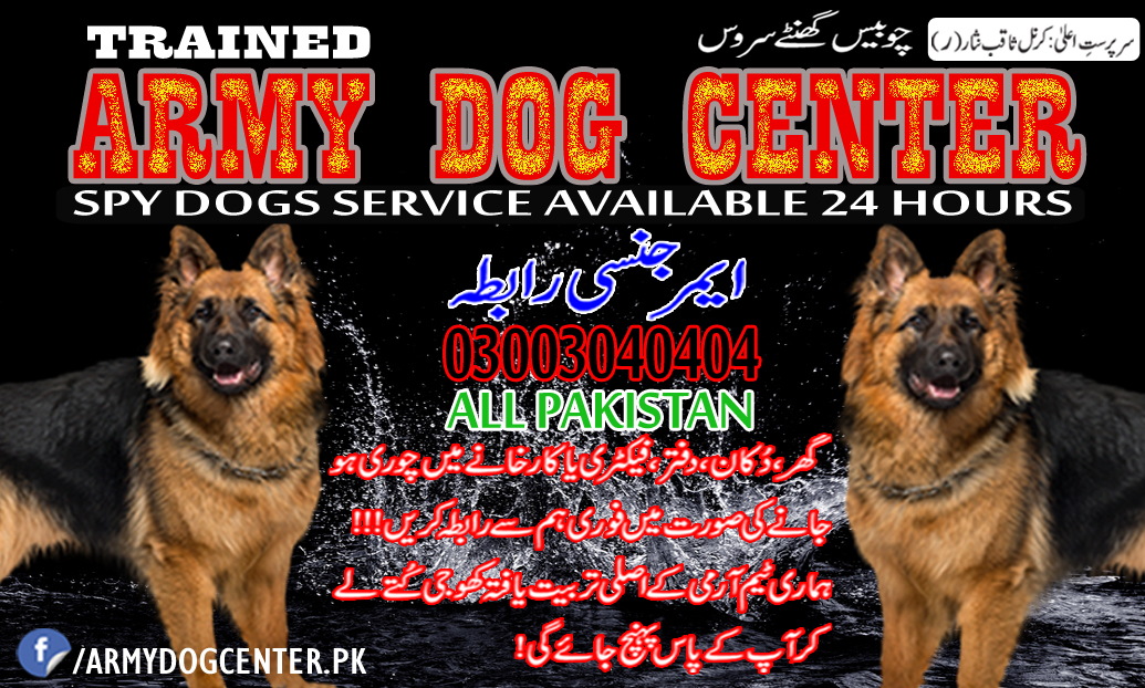 Army Dog Center All Pakistan Emergency Contact 03003040404