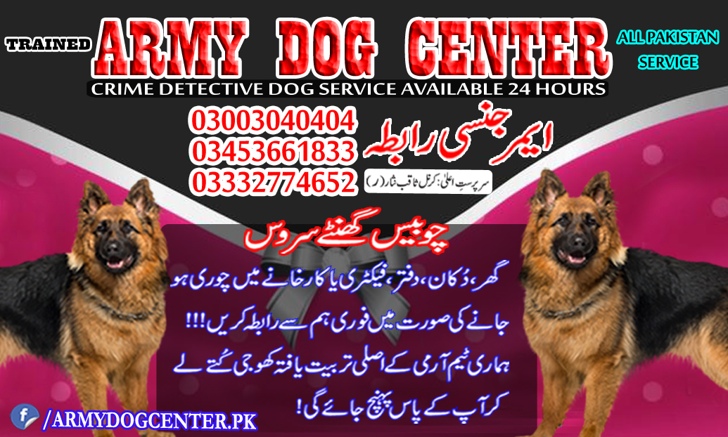 Army Dog Center Service All Pakistan Emergency Call 03003040404